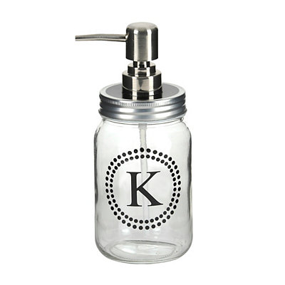 Glass and Dots Monogram K Soap Pump