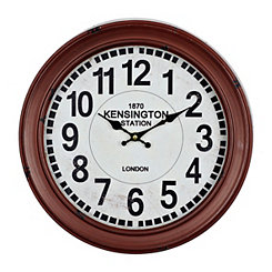 Red Round Metal Clock