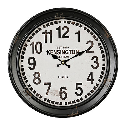 Black Round Metal Clock