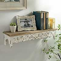 Ivory Scroll Baroque Shelf, 28.75 in.