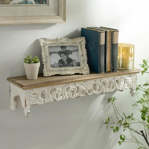 Ivory Scroll Baroque Shelf