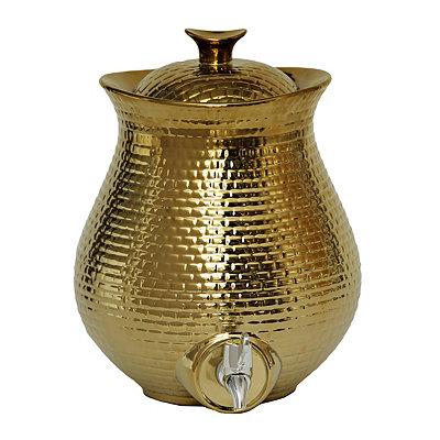 Gold Embossed Ceramic Beverage Dispenser