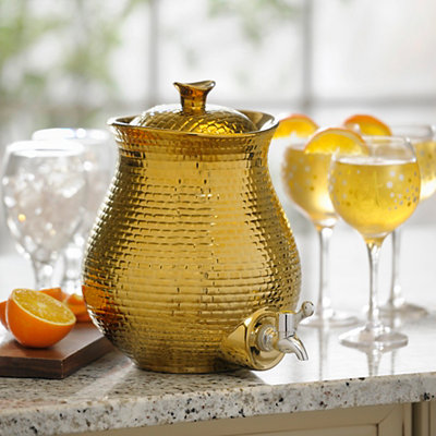 Gold Embossed Ceramic Beverage Dispenser