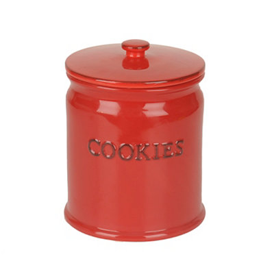 Red Ceramic Cookie Jar