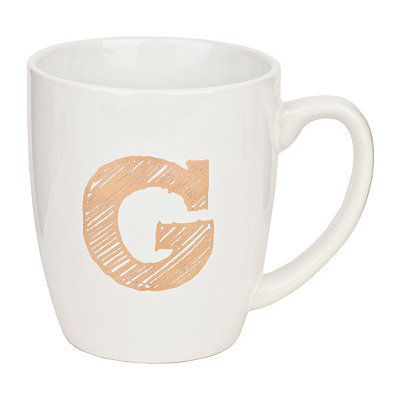 Gold Sketch Monogram G Mug