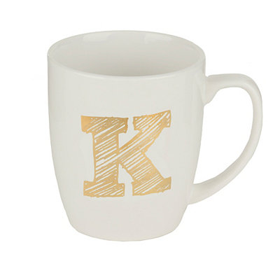 Gold Sketch Monogram K Mug