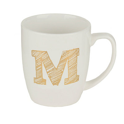 Gold Sketch Monogram M Mug