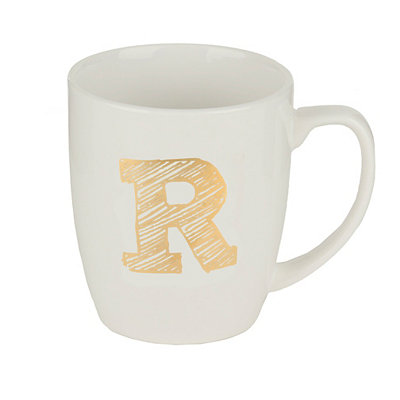 Gold Sketch Monogram R Mug