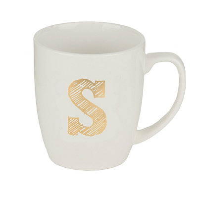 Gold Sketch Monogram S Mug