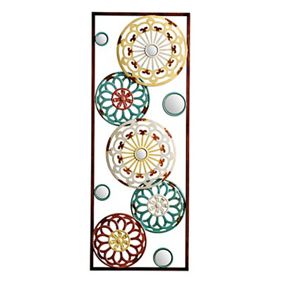 Mirrored Kaleidoscope II Metal Plaque