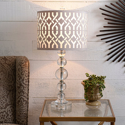 Crystal Orb Trellis Table Lamp