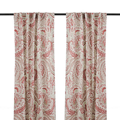 Red Jada Curtain Panel Set, 84 in.