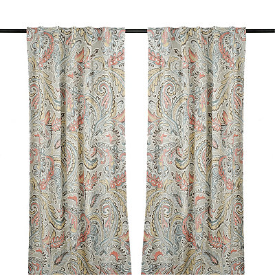 Aqua and Spice Jada Curtain Panel Set, 84 in.