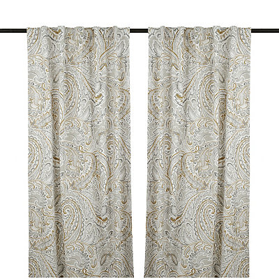 Neutral Jada Curtain Panel Set, 84 in.
