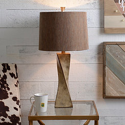 Cream Twist Table Lamp