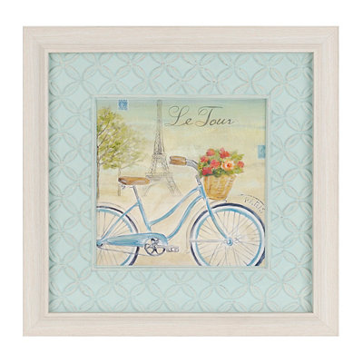 Paris Bike Tour I Framed Art Print