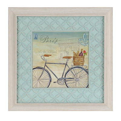 Paris Bike Tour II Framed Art Print