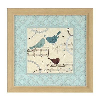 Song Birds I Framed Art Print
