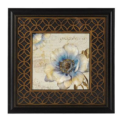 Blue Victorian Floral I Framed Art Print