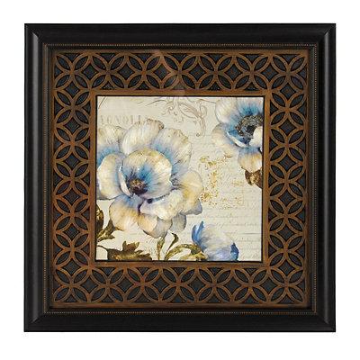 Blue Victorian Floral II Framed Art Print