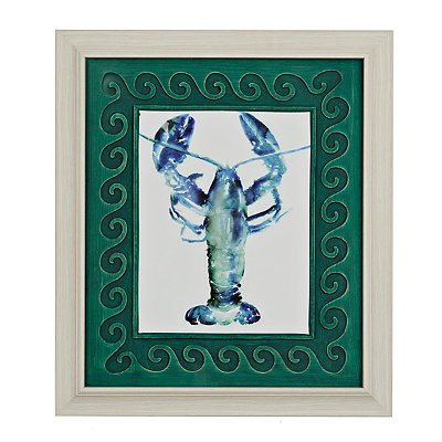 Watercolor Lobster Framed Art Print