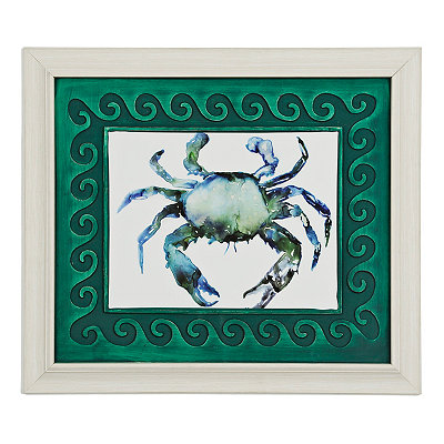 Watercolor Crab Framed Art Print
