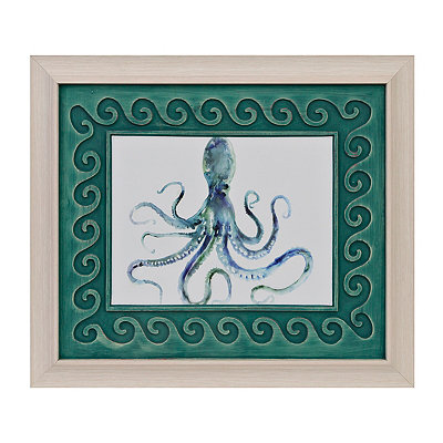 Watercolor Octopus Framed Art Print