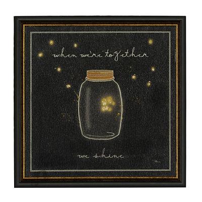 Starry Firefly Lights II Framed Art Print