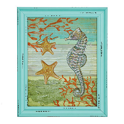 Jeweled Coastal Framed Art Print