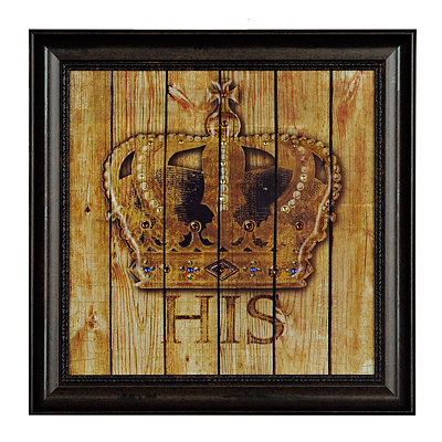 Jeweled His Crown Framed Art Print