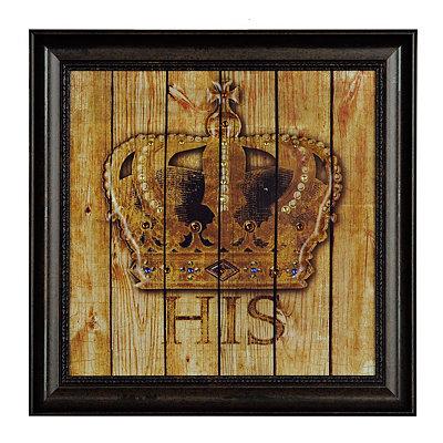 Jeweled His Crown Framed Art Print