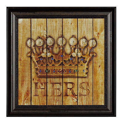 Jeweled Hers Crown Framed Art Print