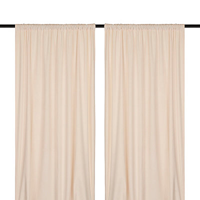 Ivory Velvet Curtain Panel Set, 84 in.