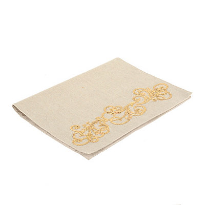 Gold Sequin Scroll Placemat