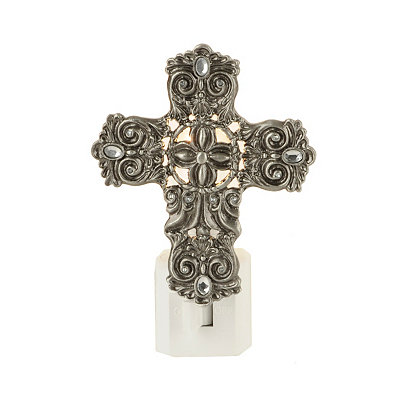 Pewter Cross Night Light