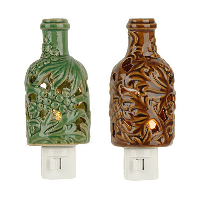 Ceramic Wine Bottle Night Lights