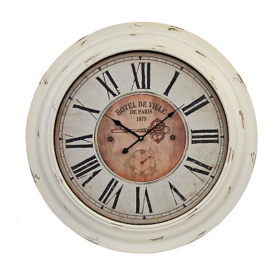 Jennison Distressed Cream Clock