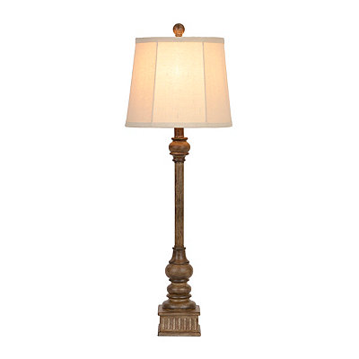 Natural Column Buffet Lamp