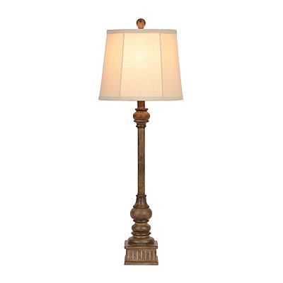 Natural Column Buffet Lamp