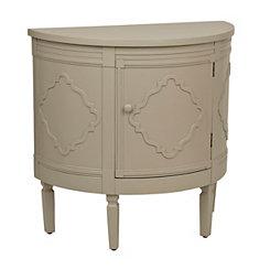 Ivory Demilune Cabinet