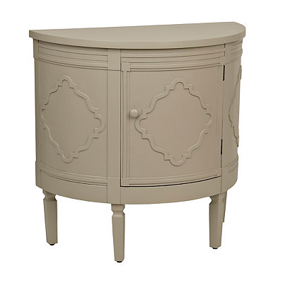 Ivory Demilune Cabinet