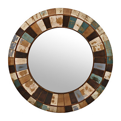 Distressed Wood Berkshire Mirror, 36 in.