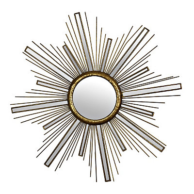 Gold Sunburst Decorative Mirror, 36 in.