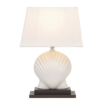 White Scallop Shell Ceramic Table Lamp