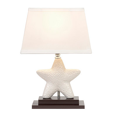 White Starfish Ceramic Table Lamp