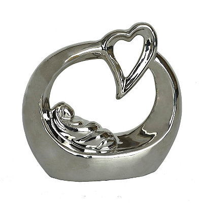 Silver Baby Love Statue
