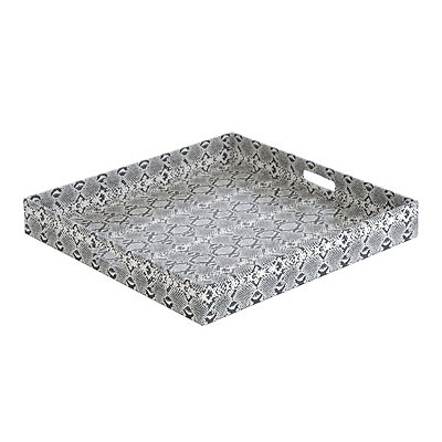 Black and White Embossed Snake Skin Tray
