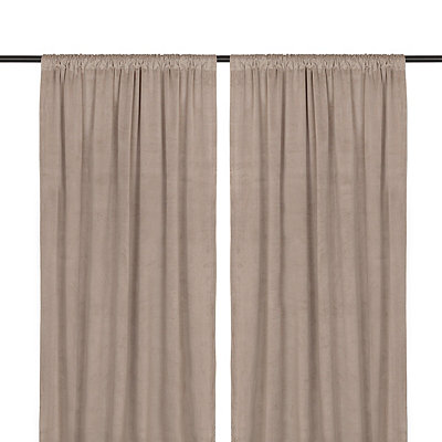 Gray Velvet Curtain Panel Set, 84 in.