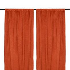 Spice Velvet Curtain Panel Set, 96 in.