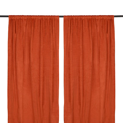 Spice Velvet Curtain Panel Set, 96 in.